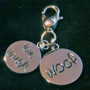 """""""Love, Laugh, Woof"""" Charms"""